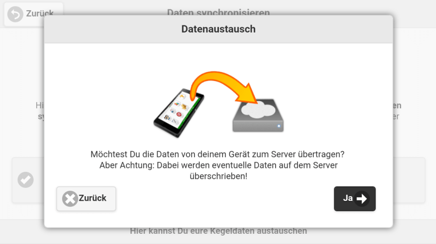Kegelbuddy_Datenaustuasch_Screen